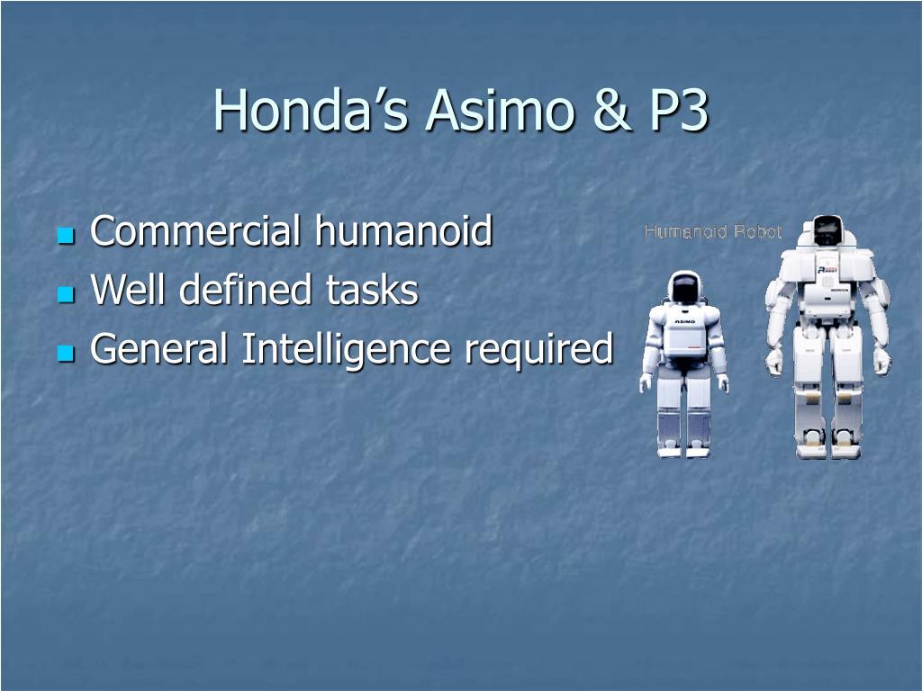 Honda's Asimo & P3
