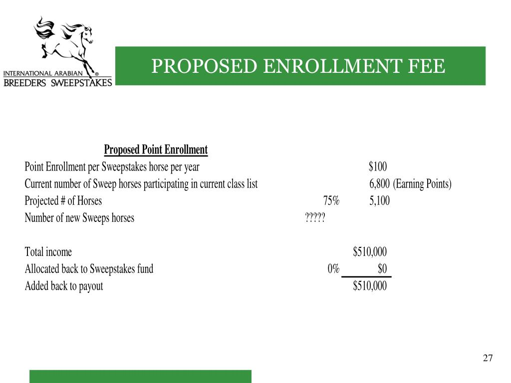 PROPOSED ENROLLMENT FEE