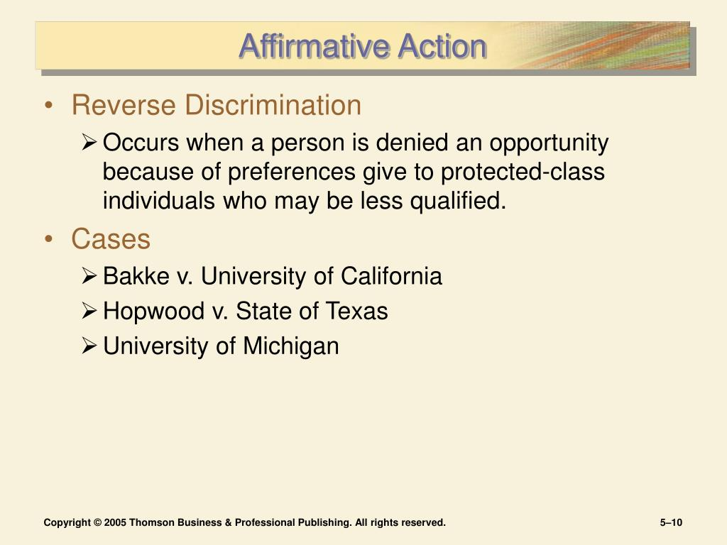 affirmative action 10 Reviews state legislation and ballot initiatives that have affected affirmative action.