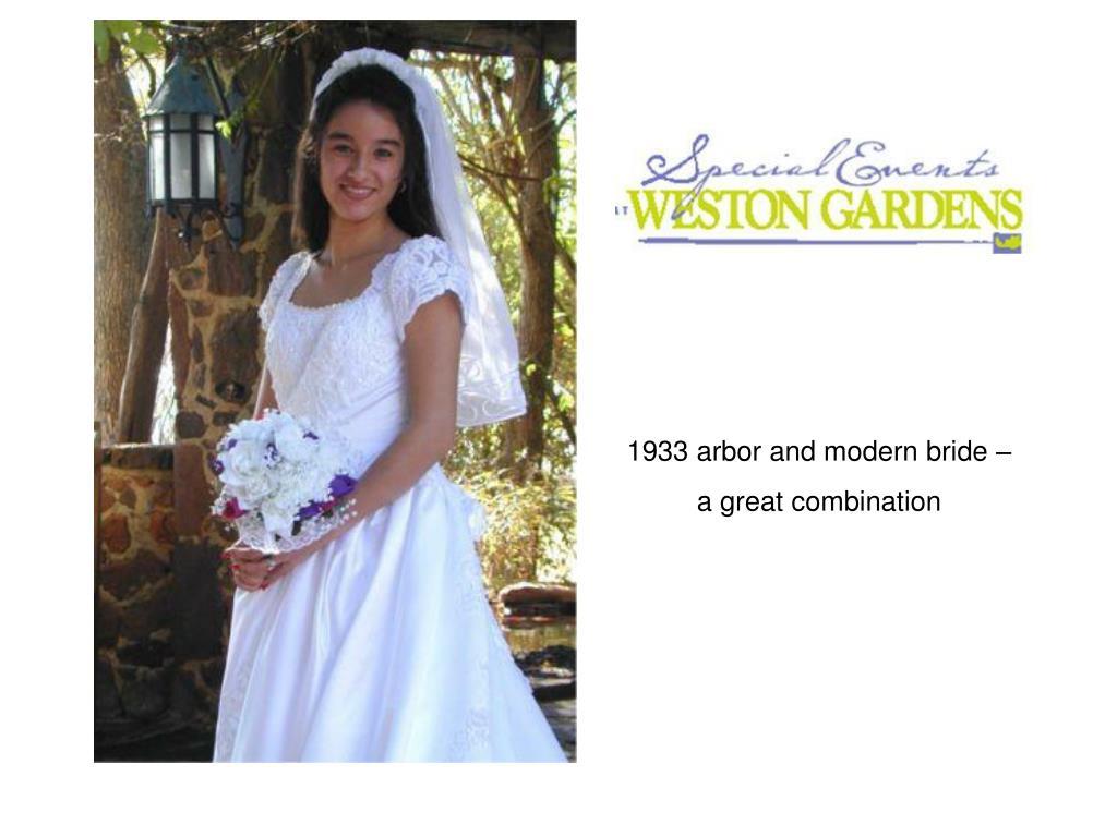 1933 arbor and modern bride –