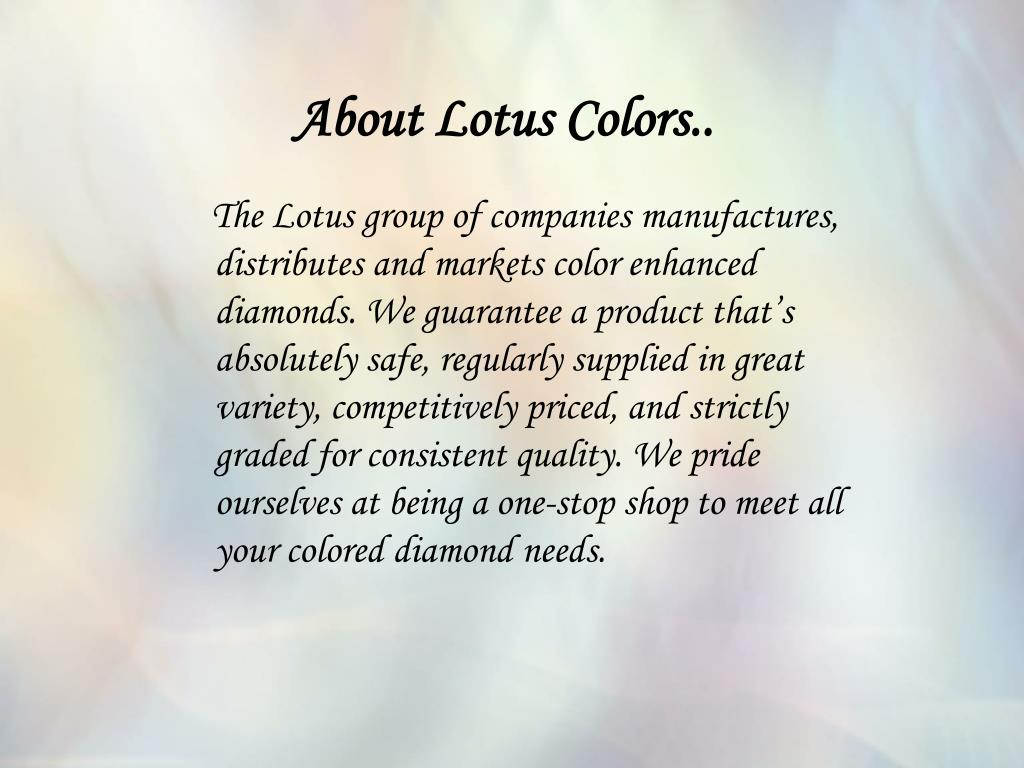 About Lotus Colors..