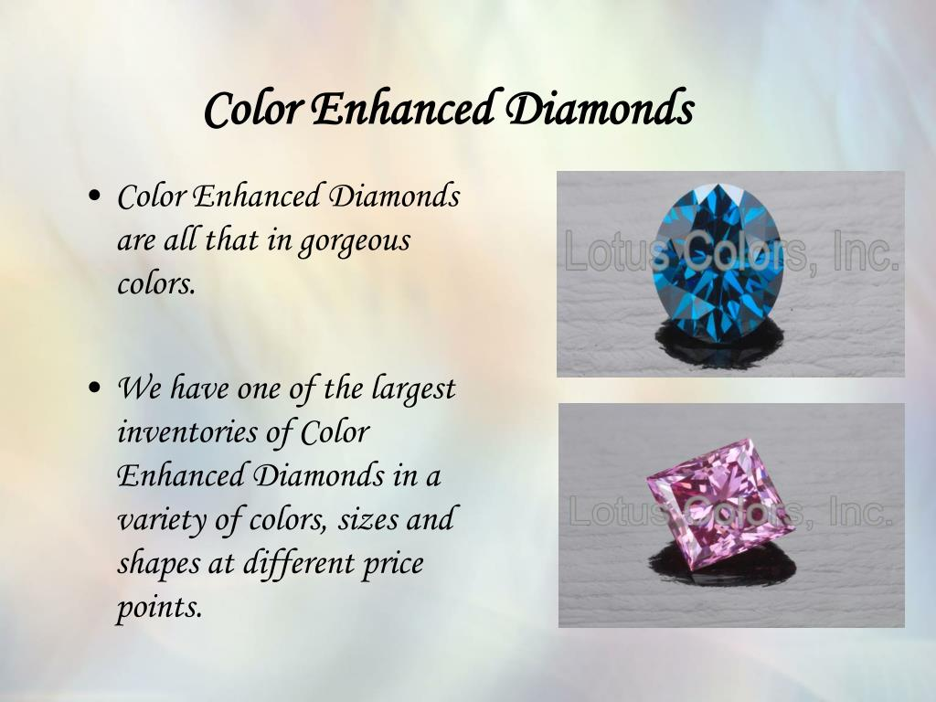 Color Enhanced Diamonds