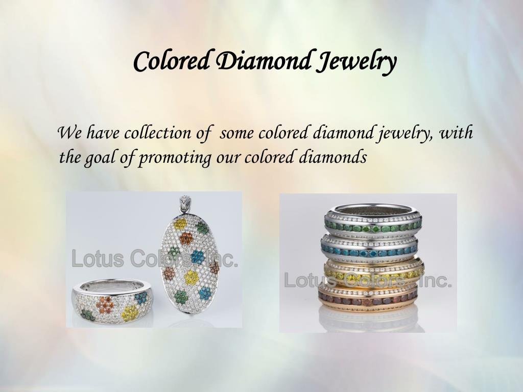 Colored Diamond Jewelry