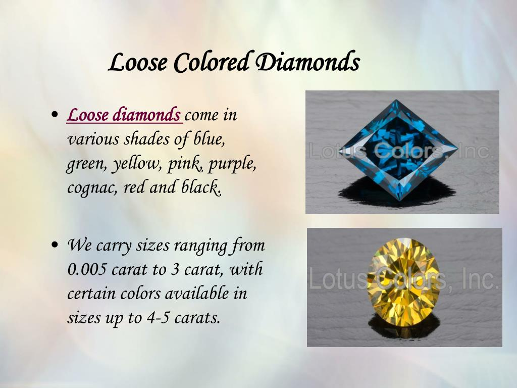 Loose Colored Diamonds