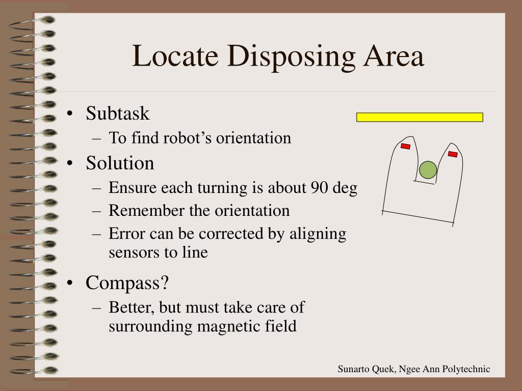 Locate Disposing Area