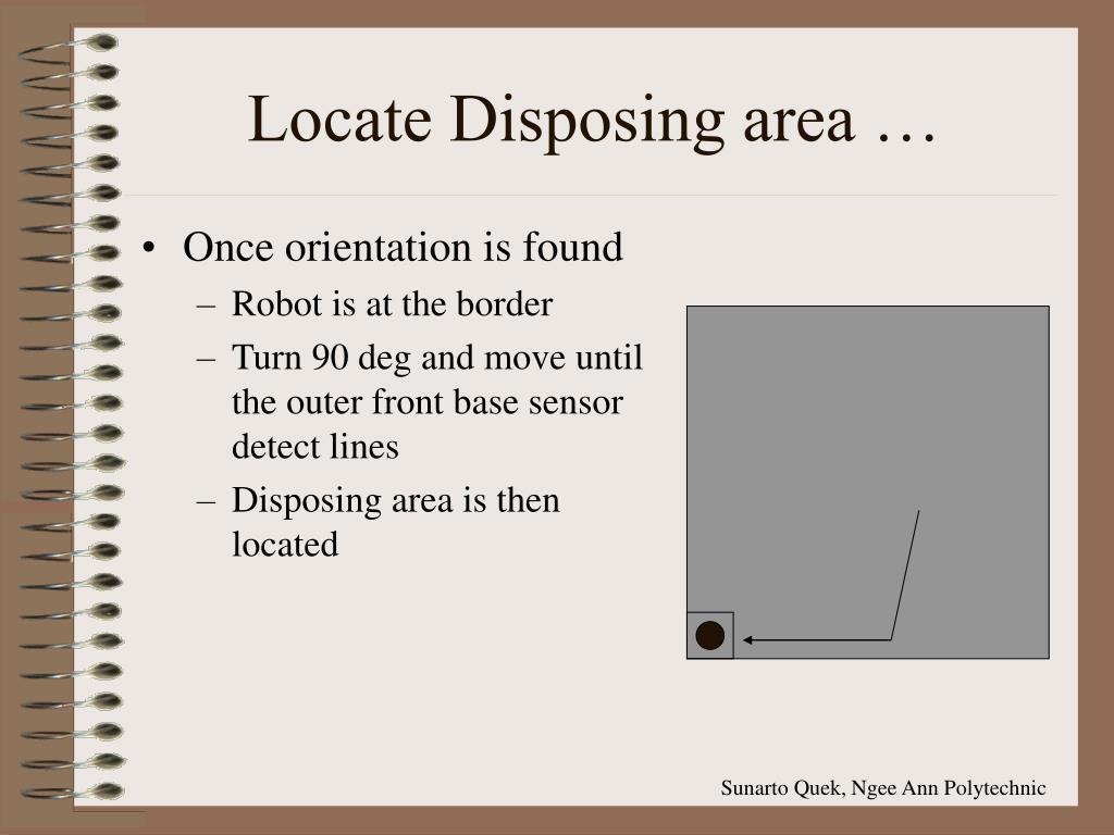 Locate Disposing area …