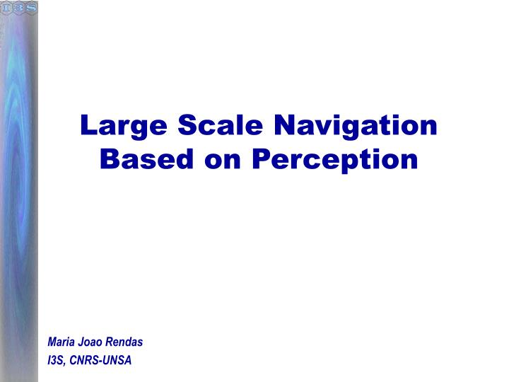 Large Scale Navigation