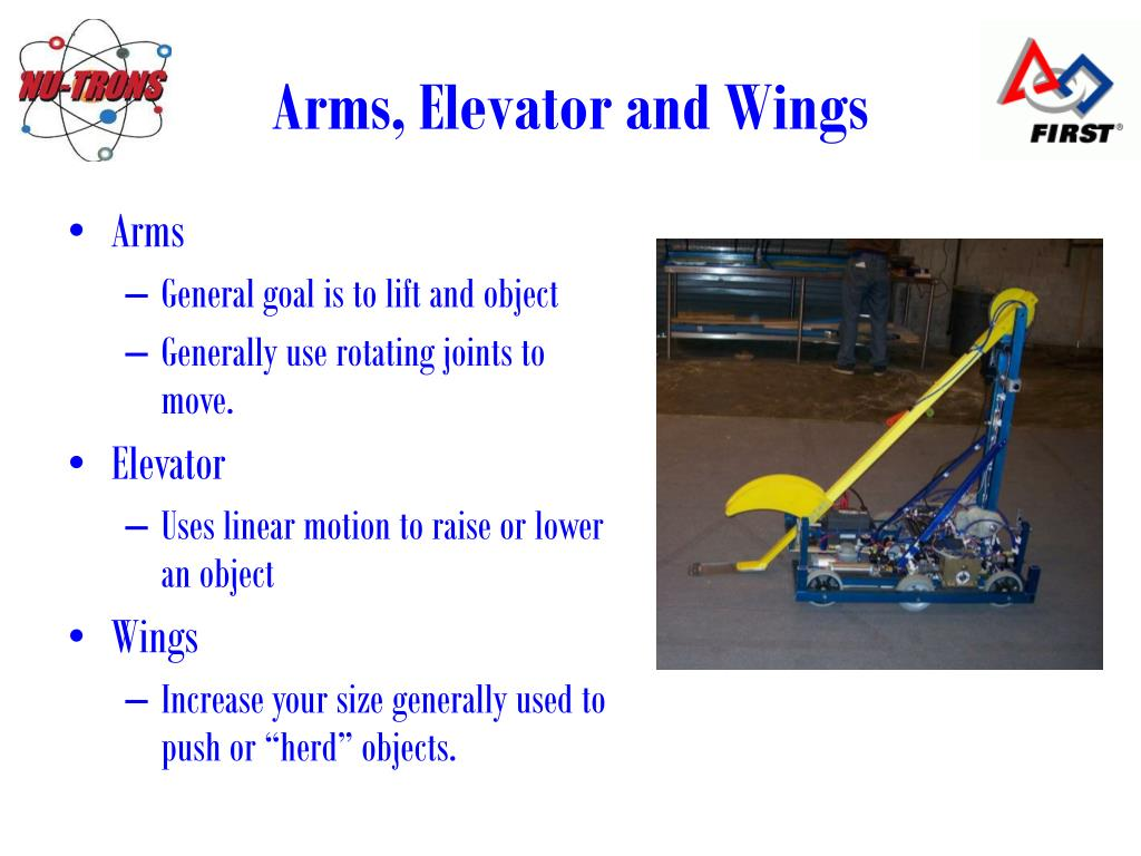 Arms, Elevator and Wings