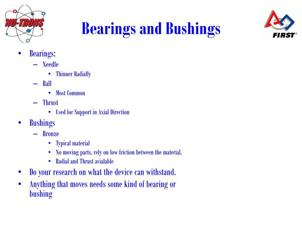 Bearings and Bushings