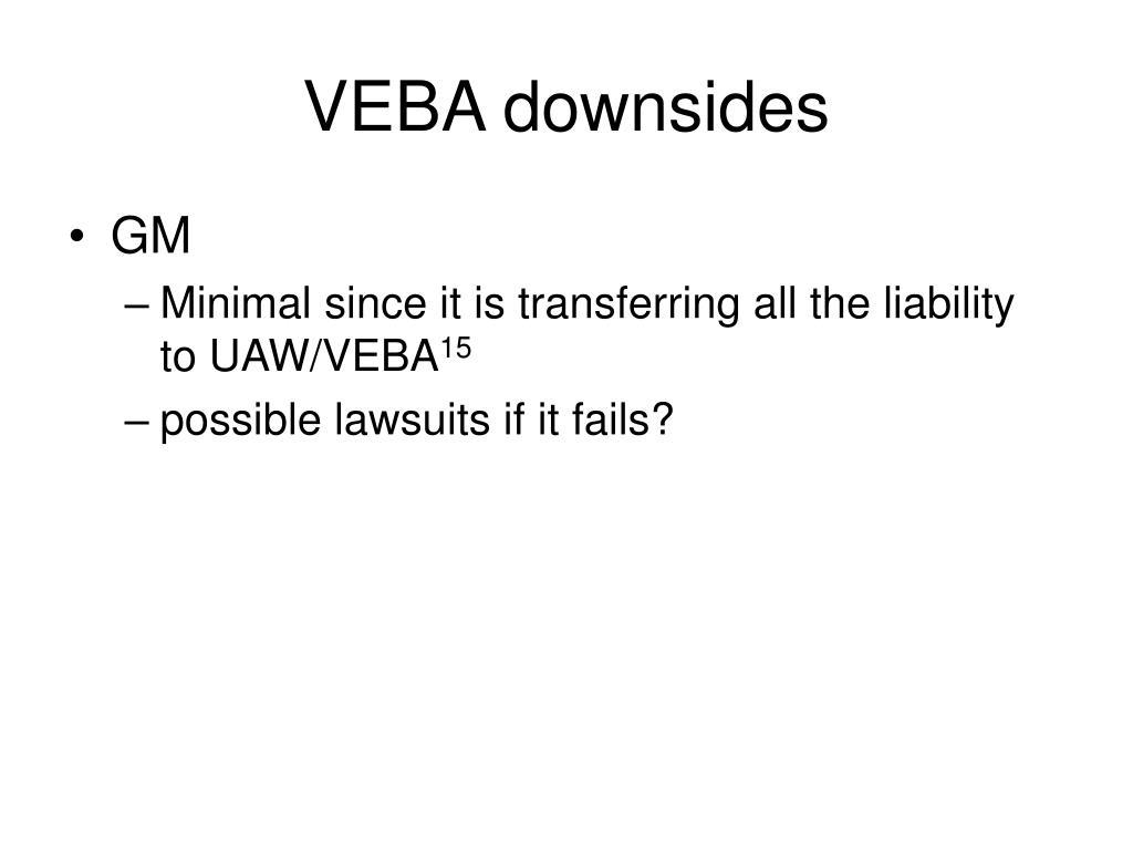 VEBA downsides