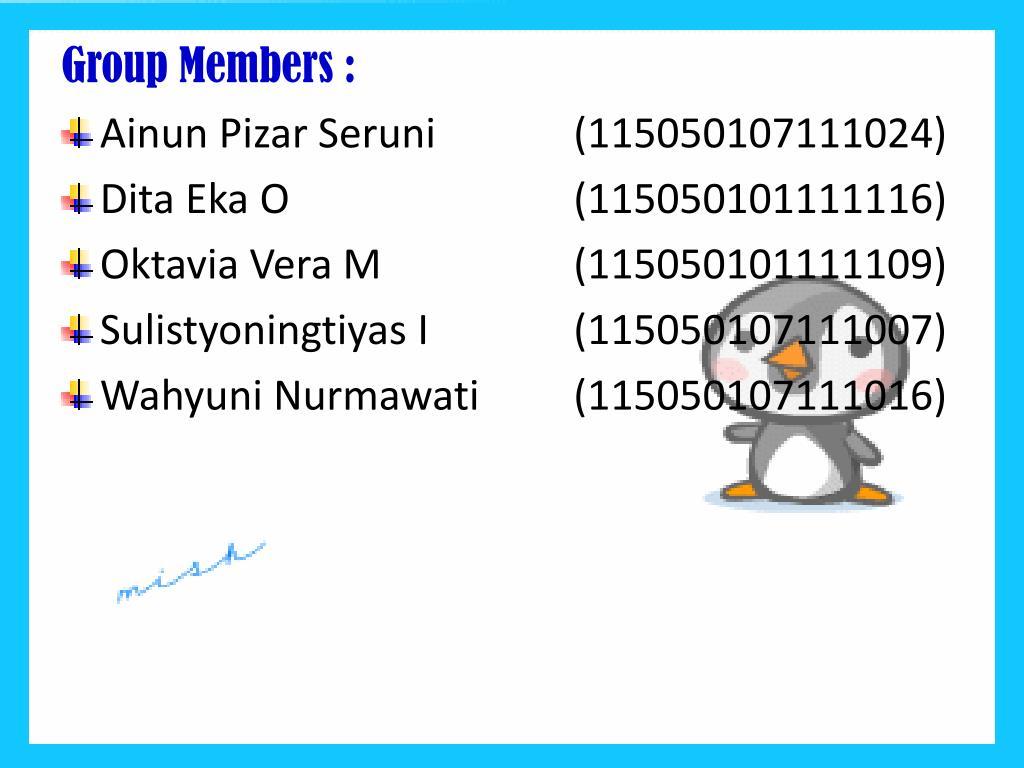 Group Members :