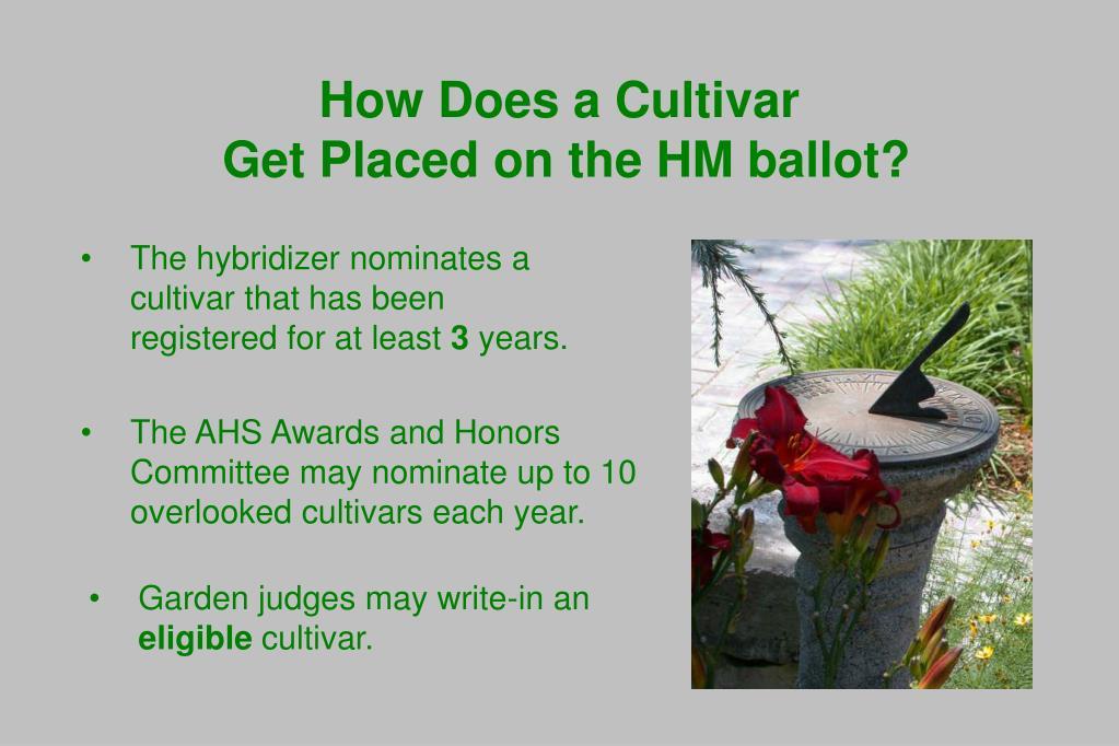 How Does a Cultivar