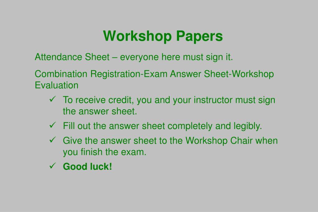 Workshop Papers
