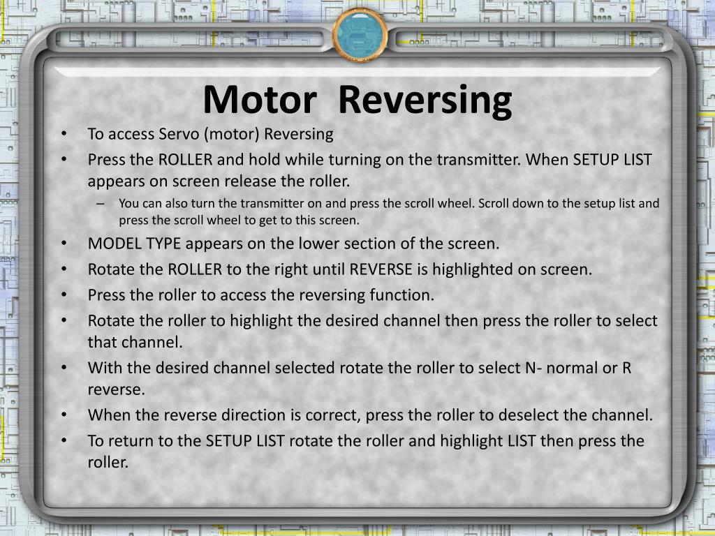 Motor  Reversing