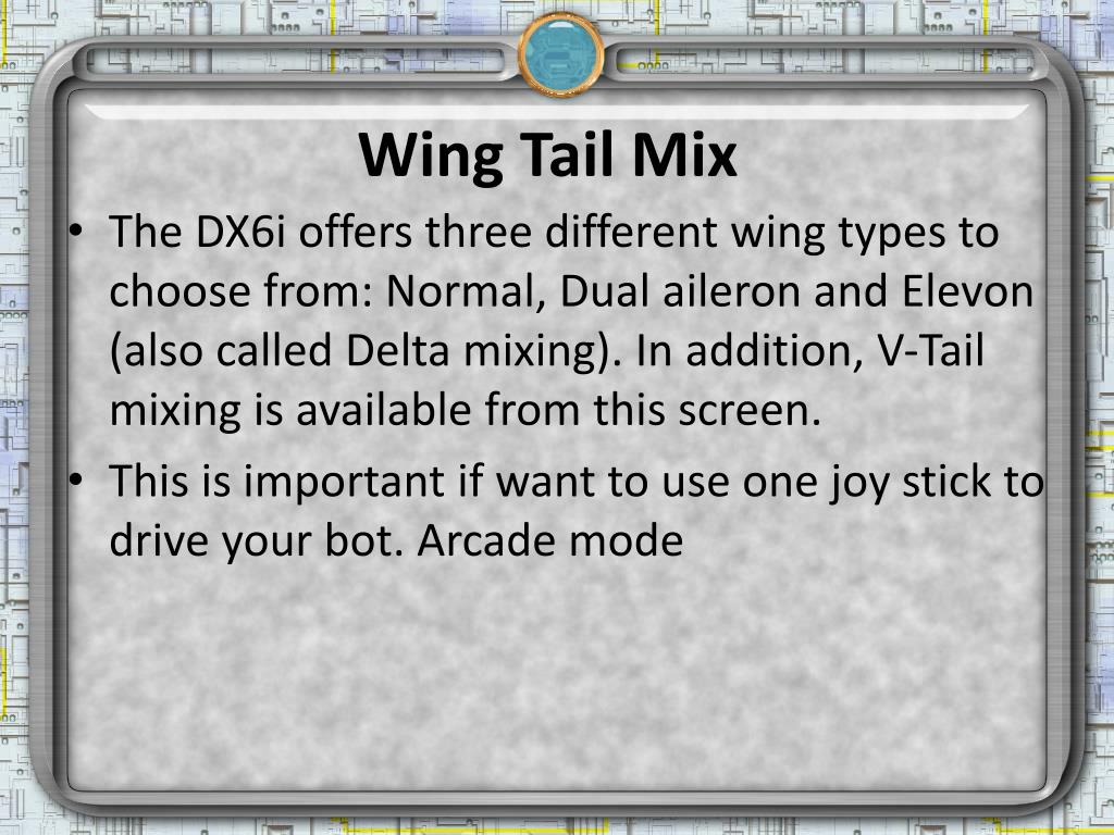 Wing Tail Mix