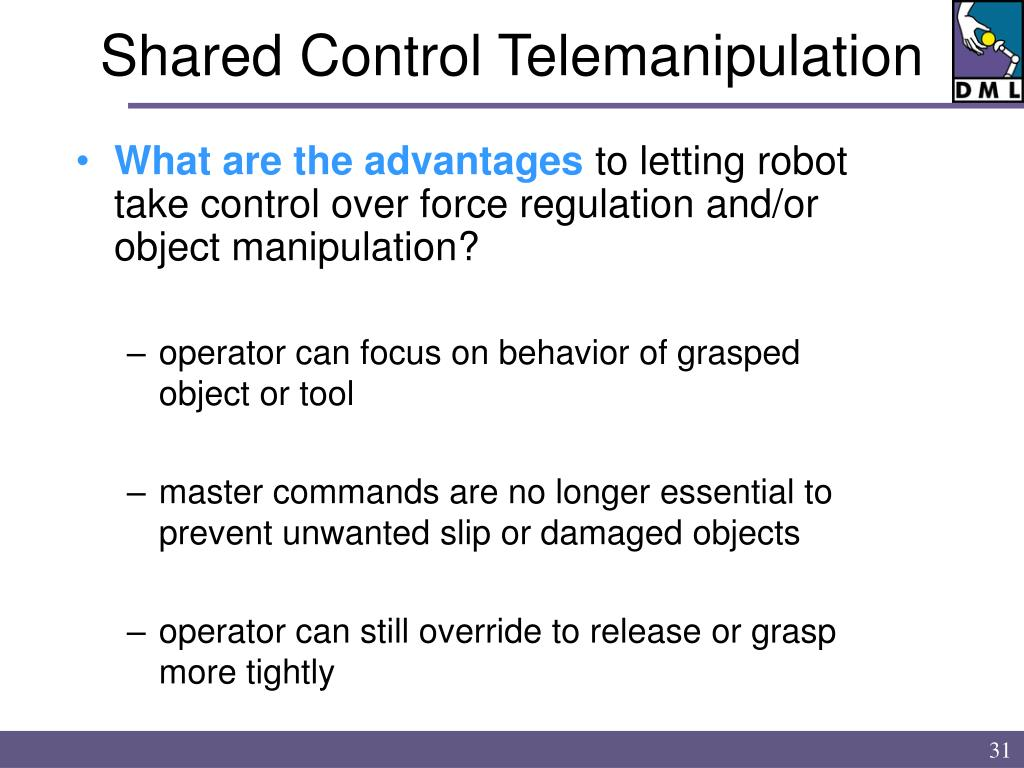 Shared Control Telemanipulation