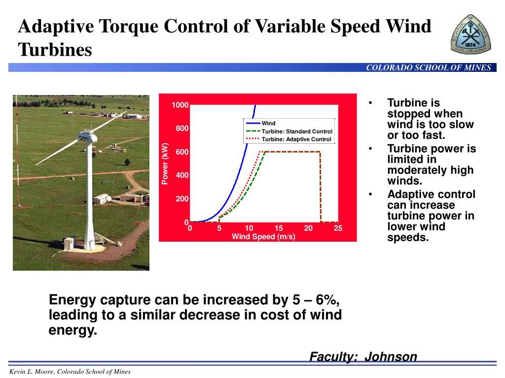 Adaptive Torque Control of Variable Speed Wind Turbines