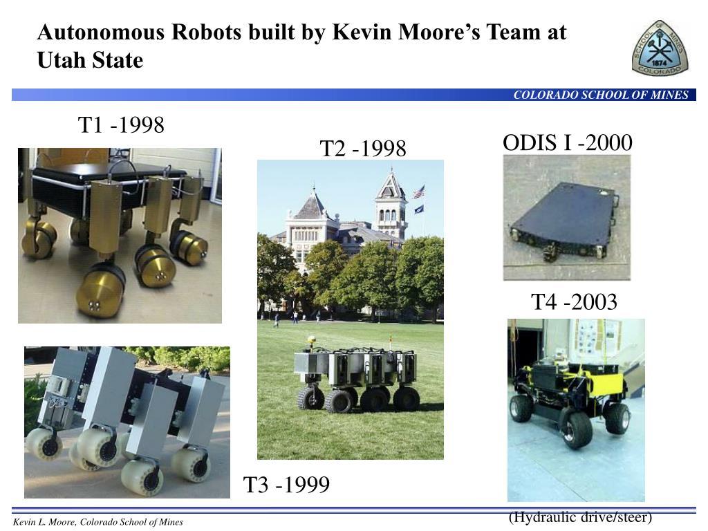 Autonomous Robots built by Kevin Moore's Team at Utah State