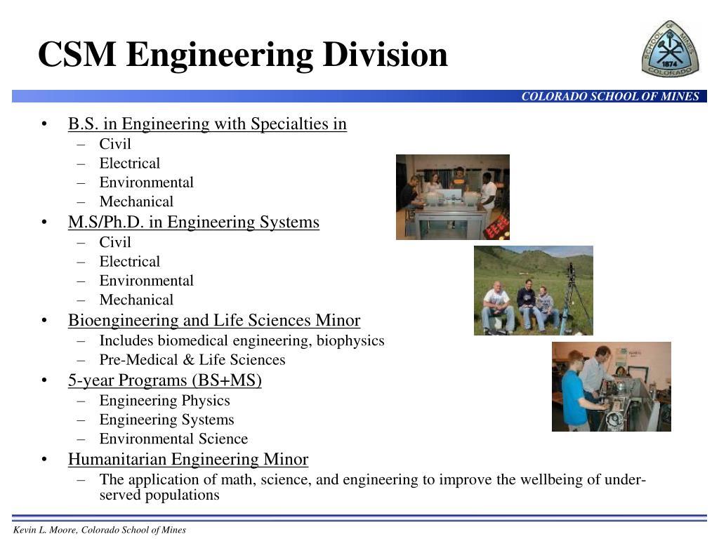 CSM Engineering Division