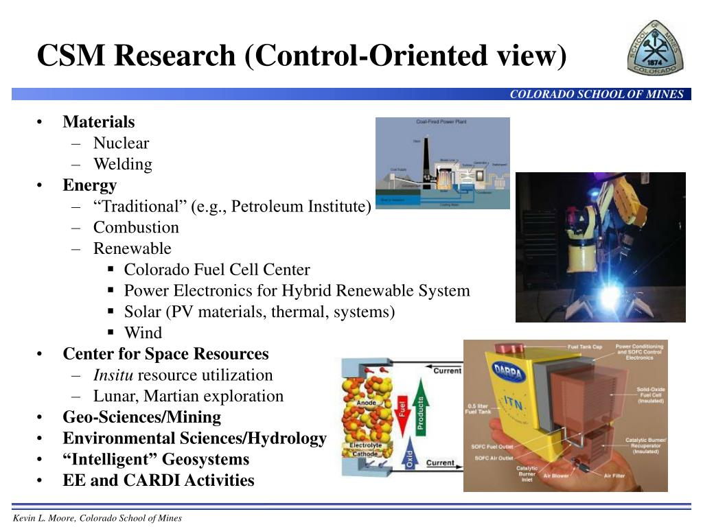 CSM Research (Control-Oriented view)
