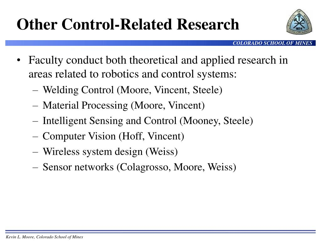 Other Control-Related Research