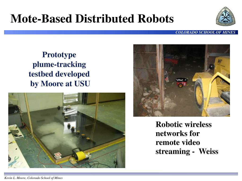 Mote-Based Distributed Robots