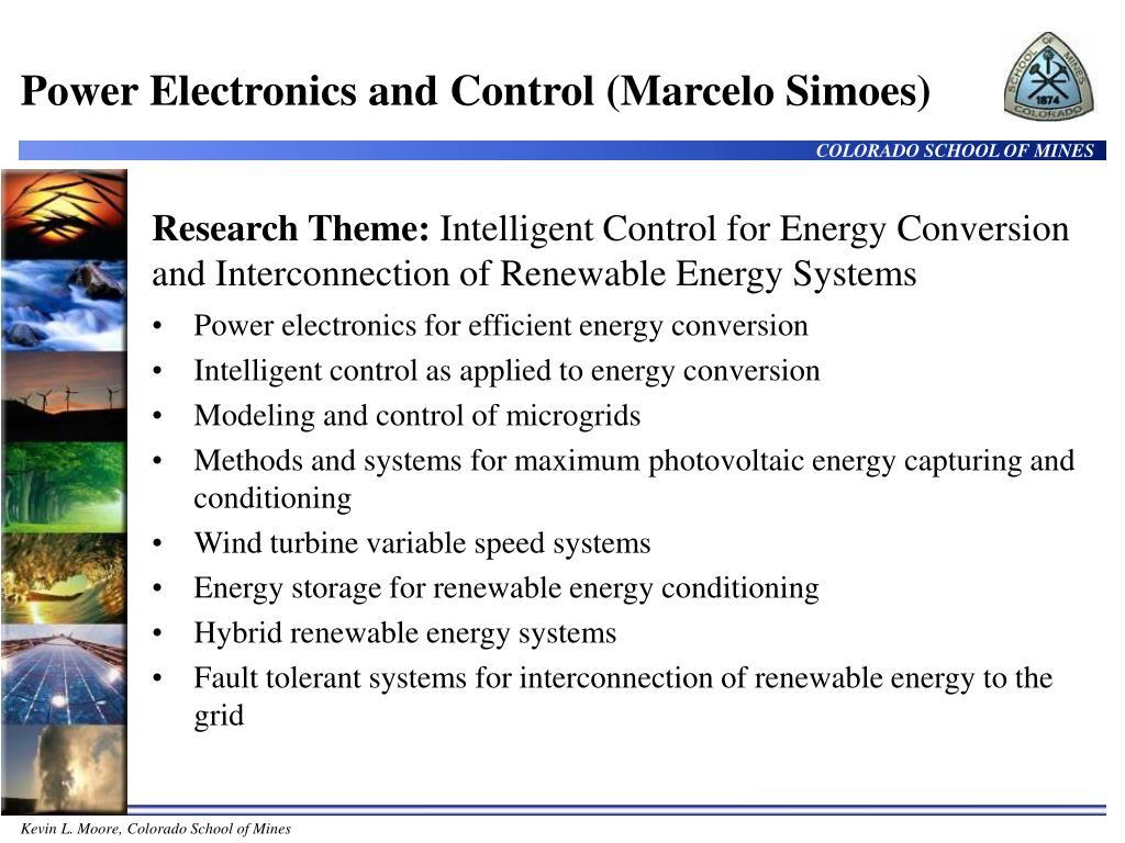 Power Electronics and Control (Marcelo Simoes)
