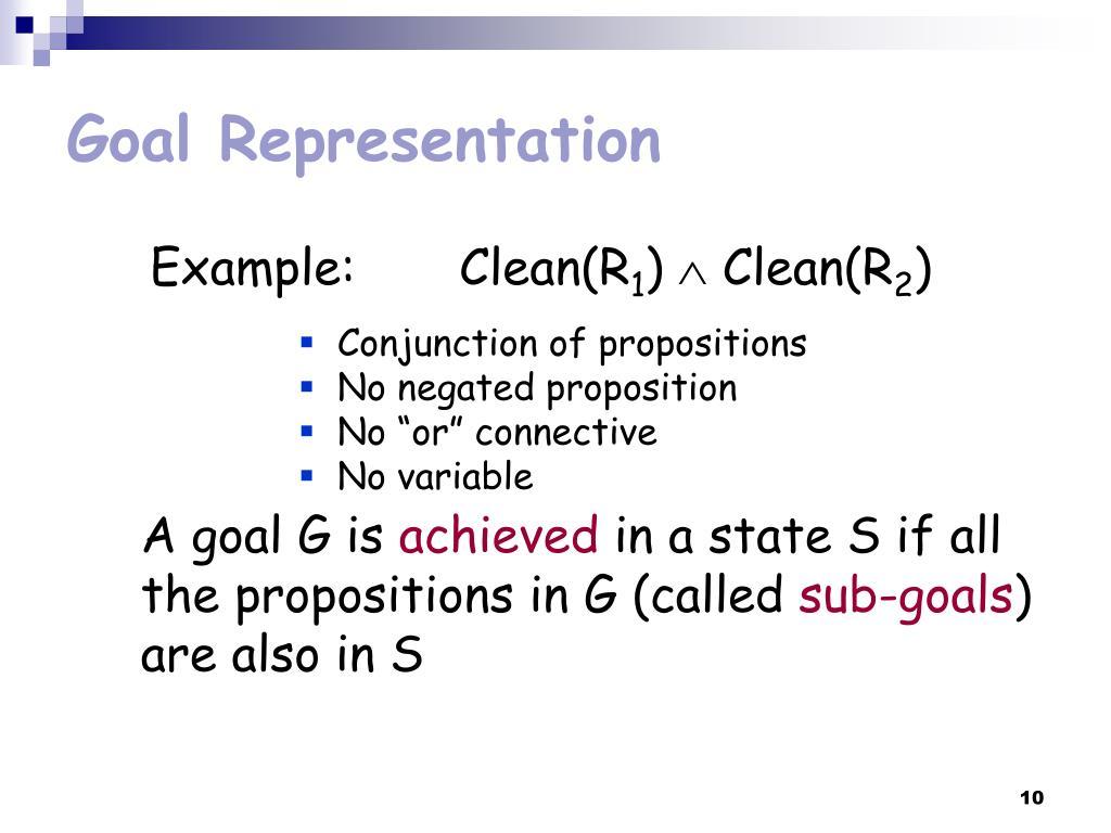 Goal Representation