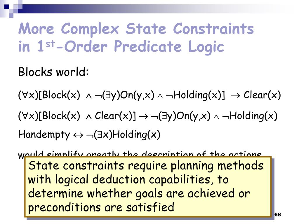 More Complex State Constraints