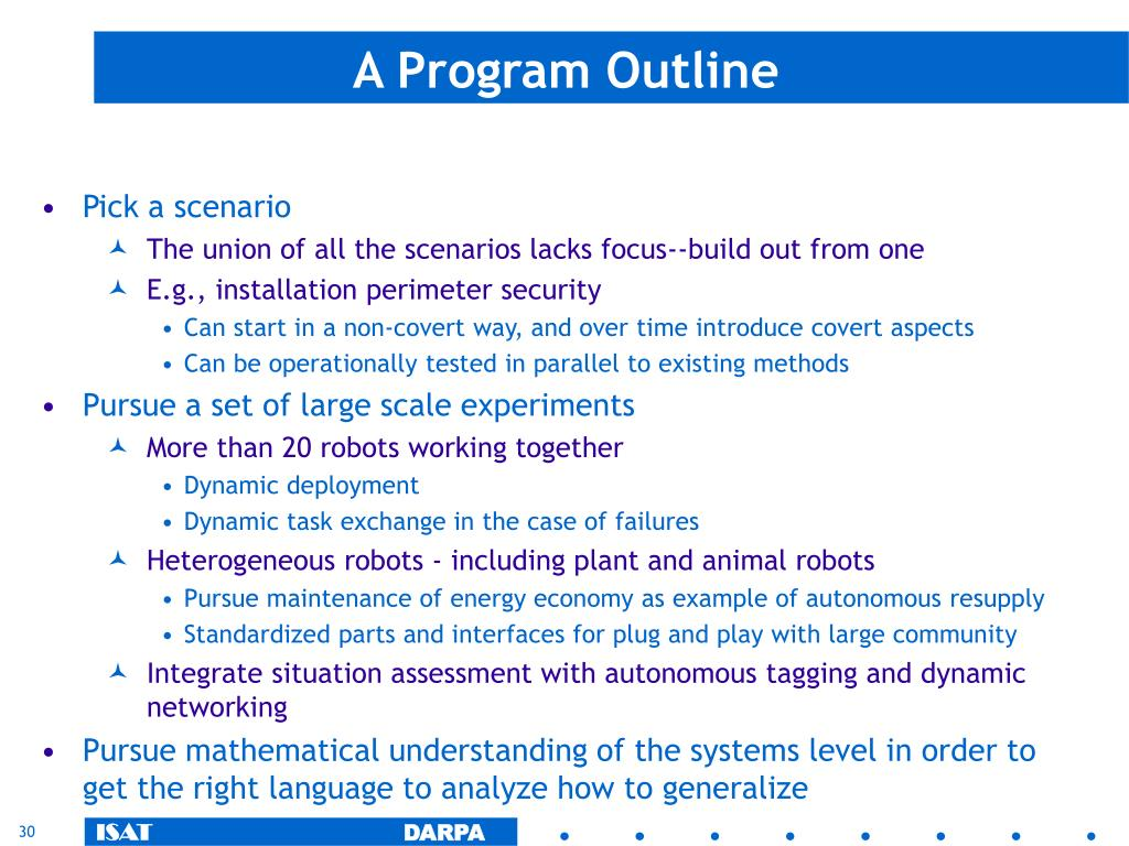 A Program Outline