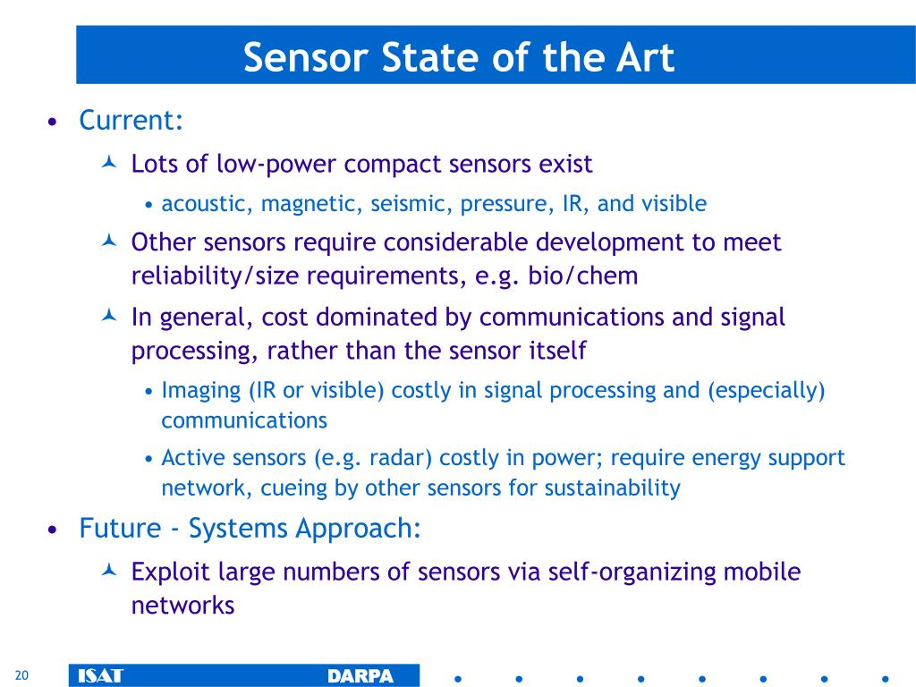 Sensor State of the Art