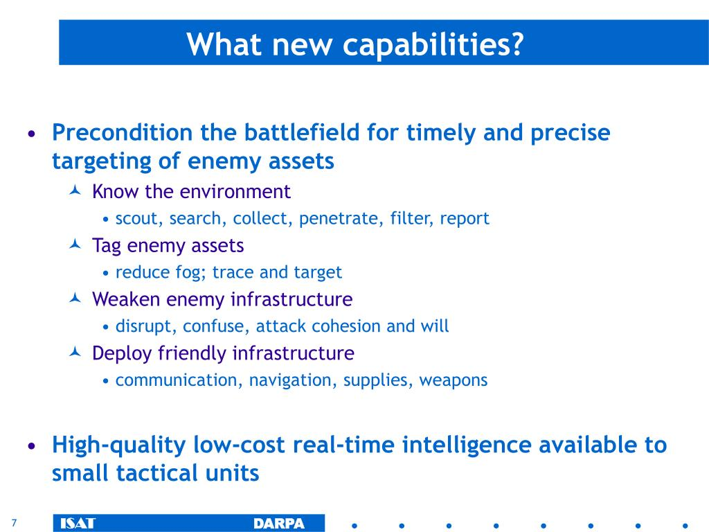 What new capabilities?