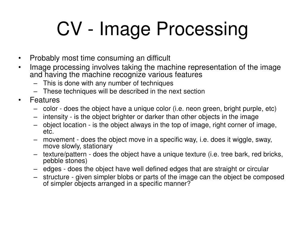 CV - Image Processing