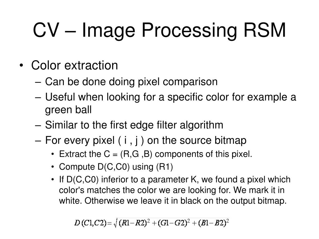 CV – Image Processing RSM