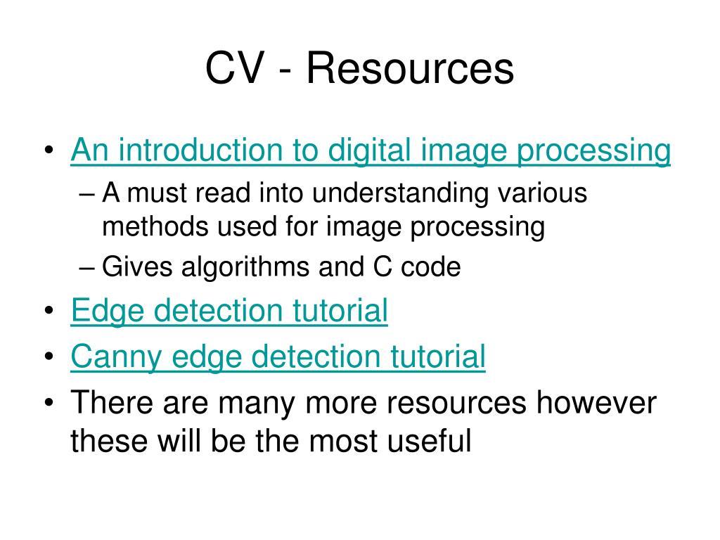 CV - Resources
