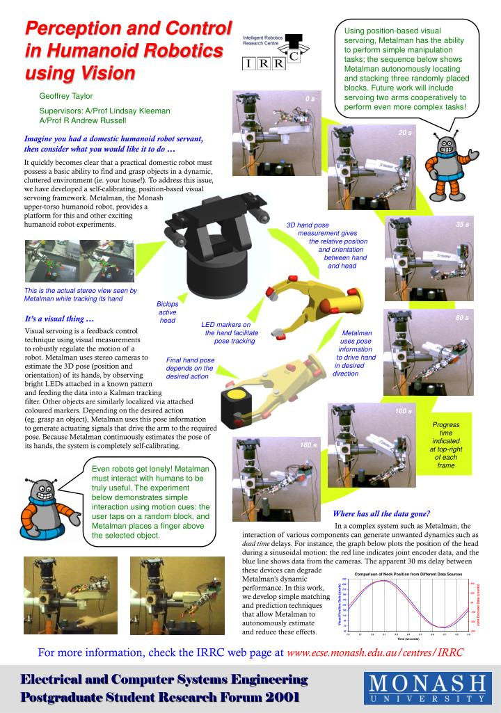 Perception and Control in Humanoid Robotics using Vision