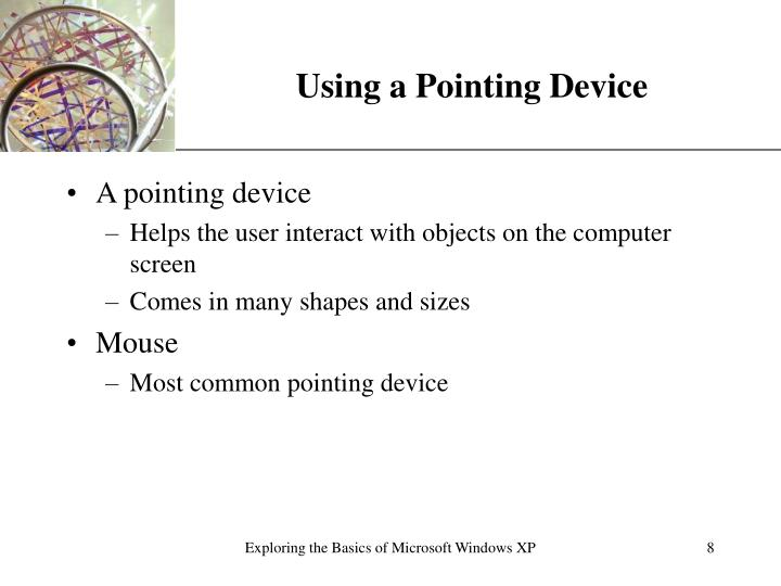 Using a Pointing Device