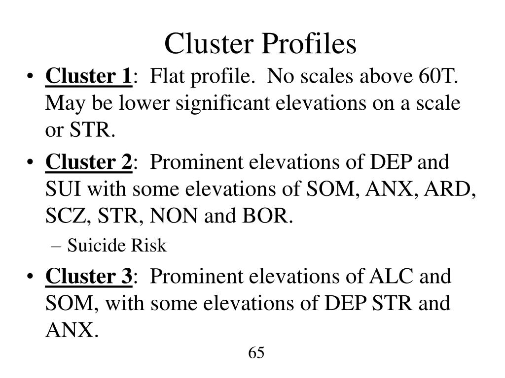 Cluster Profiles