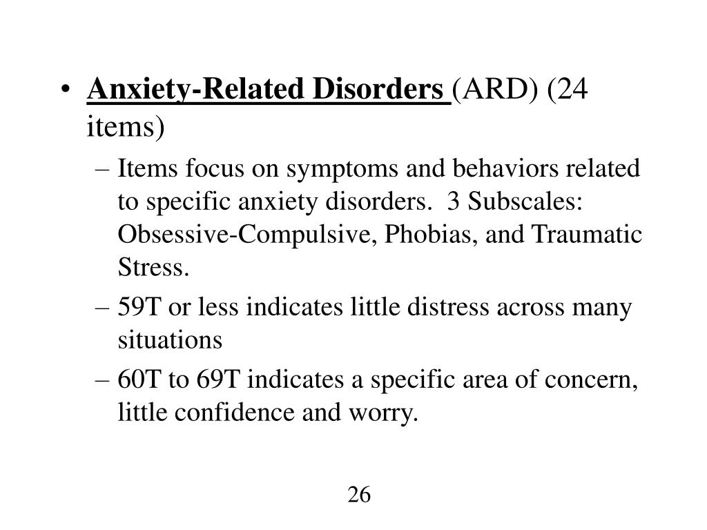 Anxiety-Related Disorders