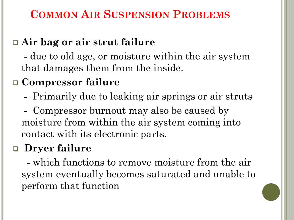 Common Air Suspension Problems