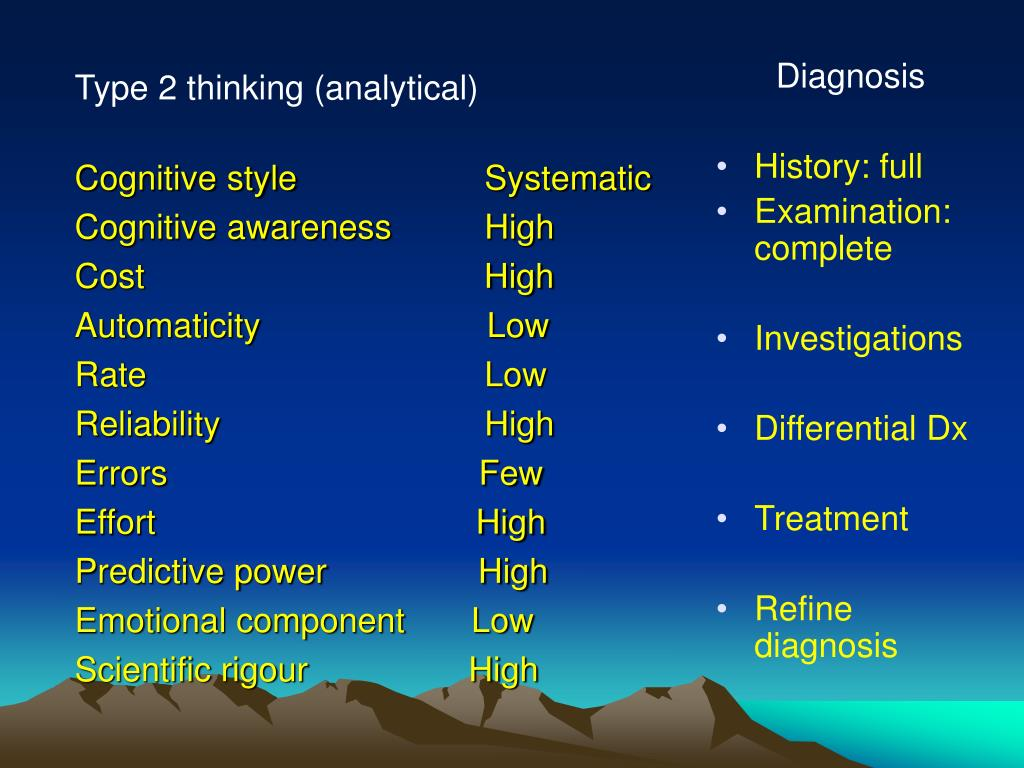 Type 2 thinking (analytical)