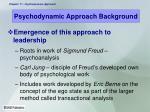 psychodynamic approach background