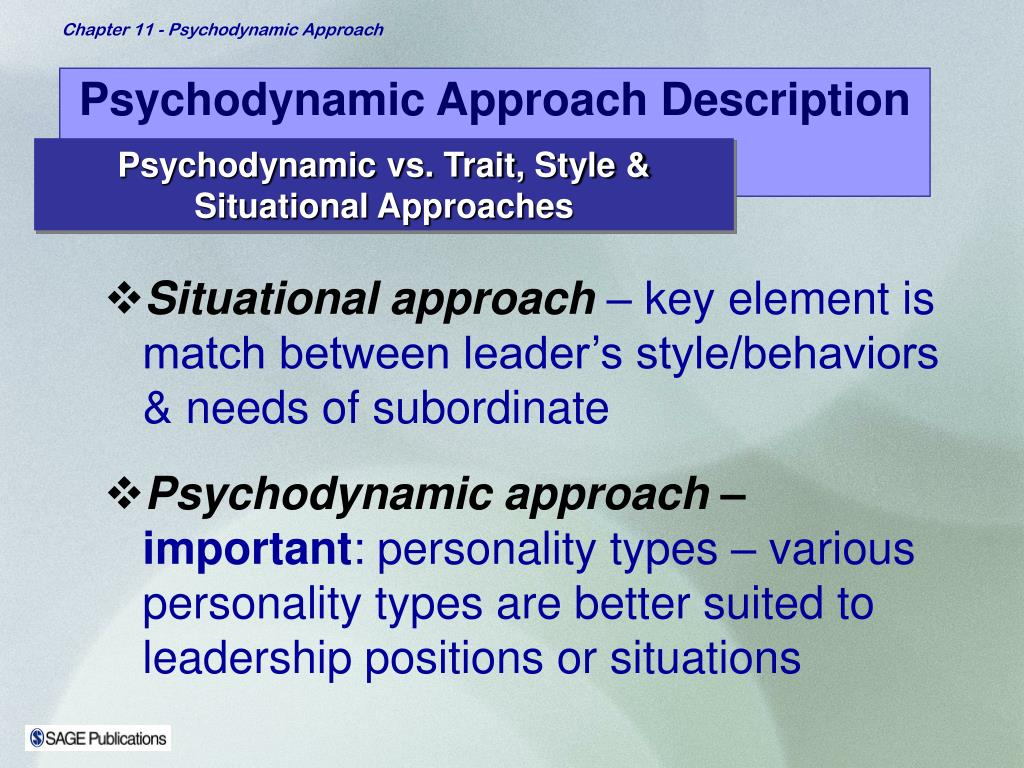 Psychodynamic Approach Description