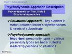 psychodynamic approach description5