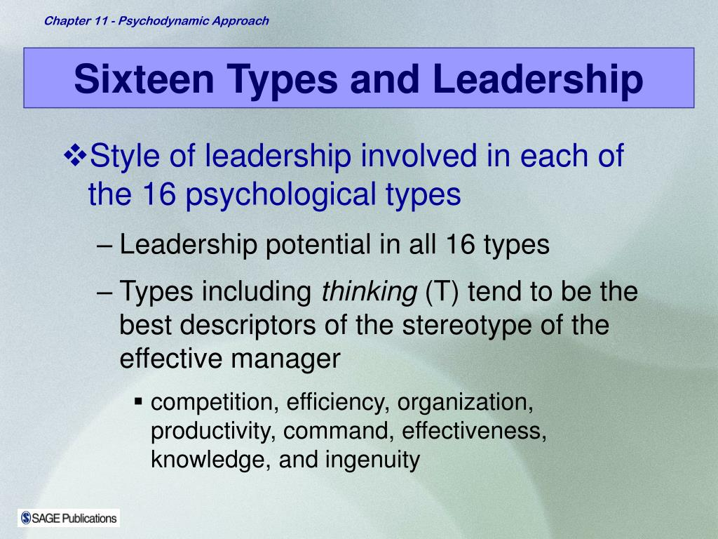 Sixteen Types and Leadership