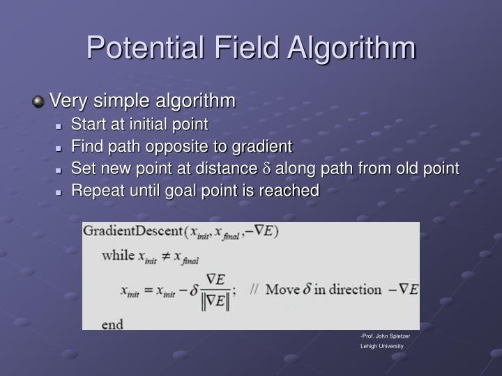 Potential Field Algorithm