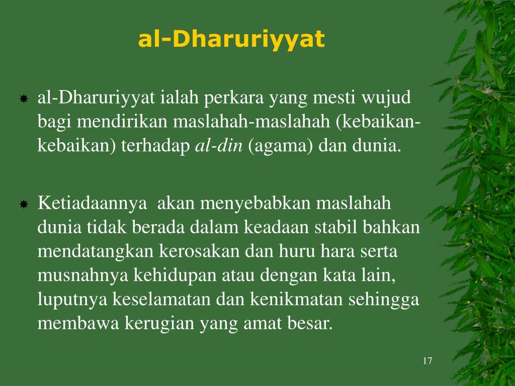 al-Dharuriyyat