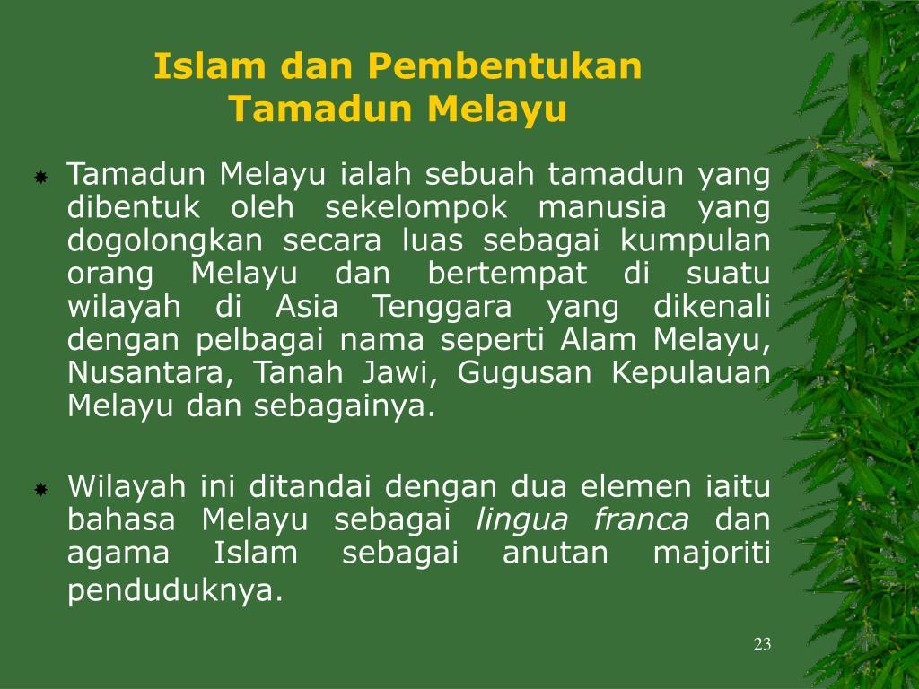 Islam dan Pembentukan