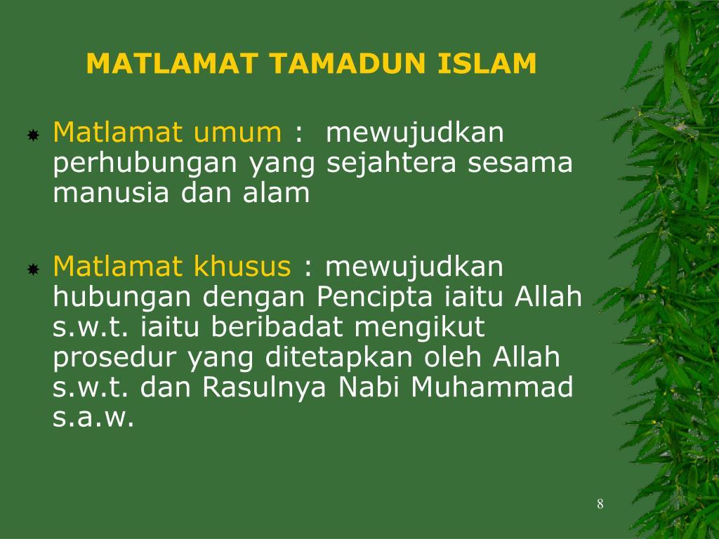 MATLAMAT TAMADUN ISLAM