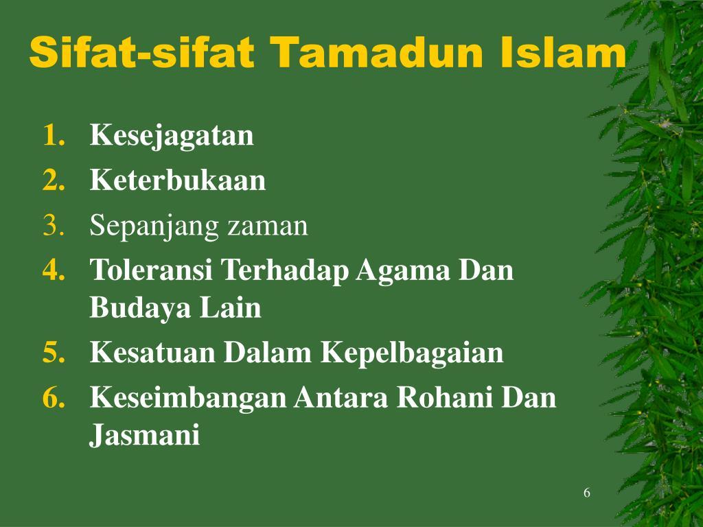 Sifat-sifat Tamadun Islam